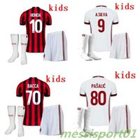 YOUTH new 2017 AC MILAN soccer jerseys Kids kit + sock 17 18...