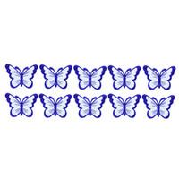 10 STÜCKE blau schmetterling stickerei patches für kleidung eisen patch für kleidung applique nähzubehör aufkleber auf kleidung eisen auf patches