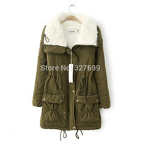 Wholesale- 2015 Winter New Berber Fleece Jacke Mantel Damenbekleidung Napka Feminine Jaquetas Slim lange Jacken Parkas unten COAT-2808873