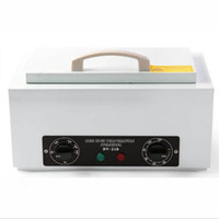 NV-210 High Temperature Sterilizer For Beauty Manicure scissors tool Hot Air Disinfection With Removable Stainless Steel Tank Towel UV Box
