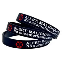 1PC Alert Malignant Hyperthermia Silicone Wristband Carry Th...