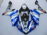 Spritzguss kostenlos anpassen Verkleidungssatz für Yamaha YZF R1 07 08 blau weiß schwarz Verkleidungssatz YZFR1 2007 2008 OT14