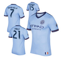 2017 Fan version New York City MLS Soccer Jersey Chemises de football 17/18 NYC Accueil Pirlo Camiseta de futbol David Villa Maglie