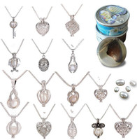 Necklace with 18KGP Cage Lockets and Nature Fresh water pear...