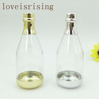 20pcs Gold Or Silver Champagne Bottle Wedding Candy Boxes Ca...