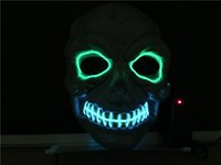 Masque de fil EL Coplay LED MASQUE Costume Masque anonyme pour Glowing dance Carnaval Party Masques PVC gros LX001