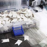 200 pcs / lot pur drapeau blanc carte en forme de bonne tige de poussée pour le bureau à l'aide, la livraison gratuite