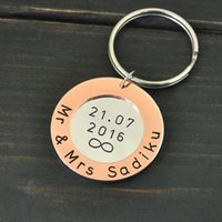 Personalized Keychain Anniversary Gift for Husband, hand sta...