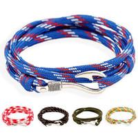 Beste Geschenk Mode Navy Windhaken Anker Paar Haken Armband Tide FB077 Mischungsauftrag 20 Teile Viel Charme Armbänder
