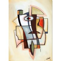 Abstract modern art City Dynamics V- Alfred Gockel oil painti...