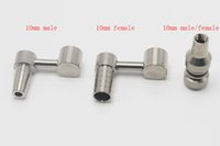 Nails Domeless Titanium Doual Función compatible con una junta femenina masculina de 10 mm para las plataformas de petróleo universal Bongs de agua de vidrio