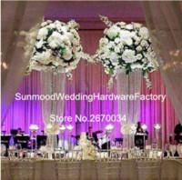 yeni çiçek düzenlemeleri düğün için şeffaf akrilik plastik vazo özelleştirmek