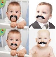 Heißer Babyschnuller lustiger Schnuller Netter Zahn Schnurrbart-Baby-Mädchen-Säuglingsschnuller-orthodontischer Dummy-Bart-Nippel-Schnuller sicher