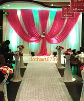 3m *6m wedding backdrop with swags valance Party background ...