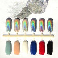 Wholesale- 1g MIRROR POWDER NAILS Holographic Nail Powder Chr...