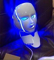 7 cores Photon PDT LED Cuidados com a pele Máscara Facial Azul Verde Vermelho Terapia De Luz Terapia De Dispositivos Face
