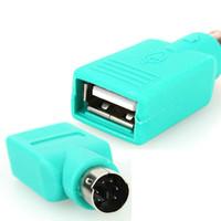 Freeshipping Novo 10 Pcs USB Fêmea para PS2 PS / 2 Adaptador Macho Para Conversor teclado Rato Ratos de Apoio Por Atacado