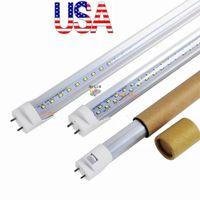 الأسهم في الولايات المتحدة الأمريكية + 4FT أدى T8 أنابيب ضوء 22W 28W مزدوجة الجانبين أدى ضوء أنابيب استبدال الإضاءة الفلورية AC 110-240V