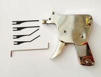Fuerte manual de bloqueo Pick Gun herramientas de cerrajero cerradura de la puerta del abrelatas Lock Pick Tool Set Bump Key Padlock
