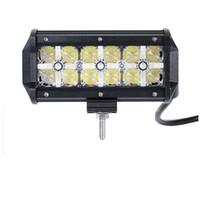 """7 """"60W 7D LED-Lichtleiste mit Quer-DRL-Punkt-Flut 12V 24V Nicht für den Straßenverkehr LED-Lichtleiste für LKW ATV RZR SUV 4WD 4X4 Camper"""