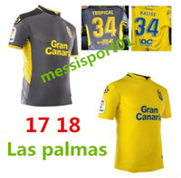 hot top quality 17 18 Las Palmas soccer jersey Casual shirts...