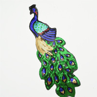 30pcs Nueva Paillette lentejuelas belleza pavo real bordado apliques parche coser ropa