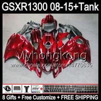 Suzuki Hayabusa GSXR1300 2009 2009 2011 14hm1 GSXR-1300 GSX R1300 GSXR 1300 2012 2013 2015 페어링 어두운 레드