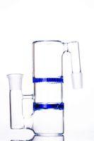 Colector de la ceniza de vidrio de 18 mm para Bongs con doble color panal Percolador 5.5 pulgadas y junta de 18 mm