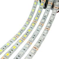 Bande de LED lumière pure blanc 5 m vif ultra-blanc 5050 smd blanc chaud rouge bleu rouge flexible flexible 300 LED DC 12V voiture