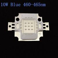 10PCS 10W LED COB высокой мощности светодиодные лампы бусины лампы Синий 460-465nm 670mA 9.0-12.0V 300-400LM 24 * 40MIL щепа Бесплатная доставка