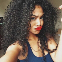 Hot selling afro curly full wig simulation brazilian human h...