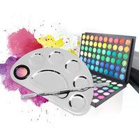 Edelstahl Kosmetik Make-Up Nail Art Gel Palette Spachtel Fünf-Loch-Form Creme Foundation Mixing Tool Schönheit Make-Up Set