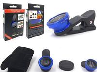 NOVO Universal 3 em 1 Wide Angle Macro Olho de Peixe Lens Camera Mobile Phone lentes olho de peixe Lentes Smartphone Microscópio