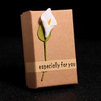 Роскошные ювелирные изделия коробки подвесные держатели ожерелье кольцо серьги серьги коробки подарок для женщин девочек ювелирные изделия ожерелье упаковки лилия подарок