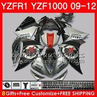 Carrocería para YAMAHA YZF Mate plateado 1000 R 1 YZF-1000 YZF-R1 09 12 Cuerpo 85NO3 YZF1000 YZFR1 09 10 11 12 YZF R1 2009 2010 2011 2012 Carenado