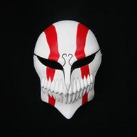1 adet / grup Kurosaki Ichigo Maskeleri Cadılar Bayramı Tam Yüz BLEACH Yetişkin Cosplay Maske Yetişkin Için