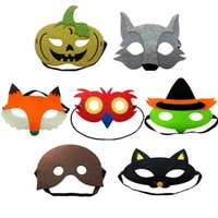 Fancy Halloween Supplies Half Face Multi Styles Felt Cloth S...