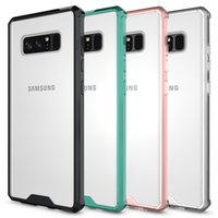 For Samsung Note 8 Case Soft TPU Bumper + Clear Hybrid Back ...