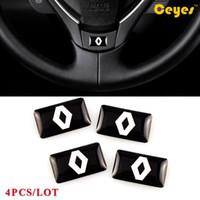 Автомобиль персонализированные наклейки для Renault duster capur logan kadjar clio megane 2 3 логотип значок липкость Sticers 4 шт. / лот