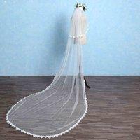 Fairy Veils de mariée Soft Netting avec applique floral Long Mariage Voile Haute Qualité 2017 Nouvelle arrivée Accessoires de mariage bon marché