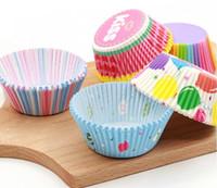 Tazas para hornear estándar papel de colores, paquete de 1000