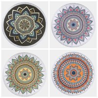 top quality 150cm round beach towels fringed beach towel mic...