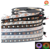 5m 60 LEDs / m WS2812B WS2812 Pixel Weiß PCB Waterproof WS2811 IC 5050 RGB SMD-Digitalfarbe Flexibles LED-Streifenlicht 5V