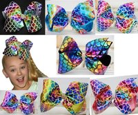 "HOT SALE ! 12 COLORS Mermaid Bow 8"" rhineston Dance Mom..."