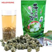 Heiße Verkäufe C-LC004 Großhandelsqualitäts-Jasmin-Blumen-Tee 100g Erstklassiger Jasmin-Perlen-chinesischer organischer grüner Tee-Gebundener duftender Tee