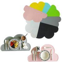 Moda linda forma de nube Silicona Una estera Cocina moderna Mesa de comedor Decoración rosa / gris / blanco / negro / azul / amarillo / verde