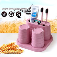 Creative Wheat Straw Tooth Brush Holder Cup Wash Gargle Bath...