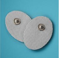 200pcs réutilisables Snap-on blanc petits électrodes en gel d'électrode en forme ovale pour HealthmateForever Portable appareils d'électrothérapie, dispositifs