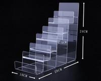 Boutique negozio Seven-layer Acrylic Wallet Display Stand Purse Holder di alta qualità Nail polish cosmetici gioielli scaffale espositore del telefono