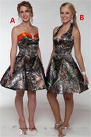 2018 Camo vestidos cortos de baile Sweetheart Satin A Line Hasta la rodilla Vestido de fiesta Vestido de fiesta Mini Short Homecoming Dresses